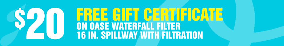 Waterfall Filter 16in Spillway with Filtration free gift certificate