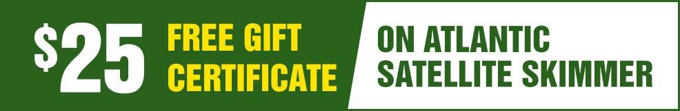 atlantic Satellite Skimmer free Gift Certificate