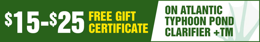 atlantic Typhoon Pond Clarifier +TM free Gift Certificate