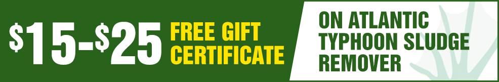 atlantic Typhoon Sludge Remover free Gift Certificate