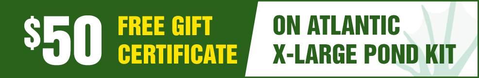 atlantic x-large pond kit free Gift Certificate