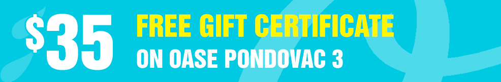 Oase Pondovac-3 35 free gift certificate
